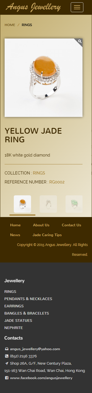 Angus Jewellery Website   Product Page - Rings