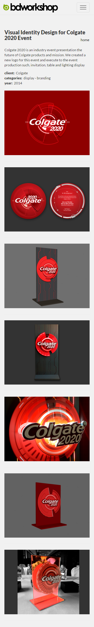 Bdworkshop Website Revamp | Project Page - Visual Identity Design for Colgate 2020 Event