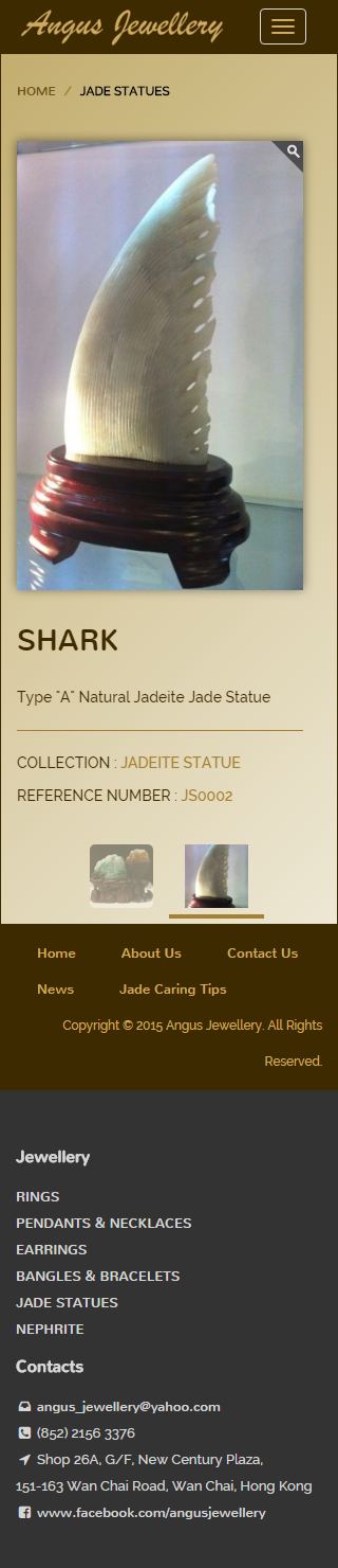 Angus Jewellery Website | Product Page - Jade Statues