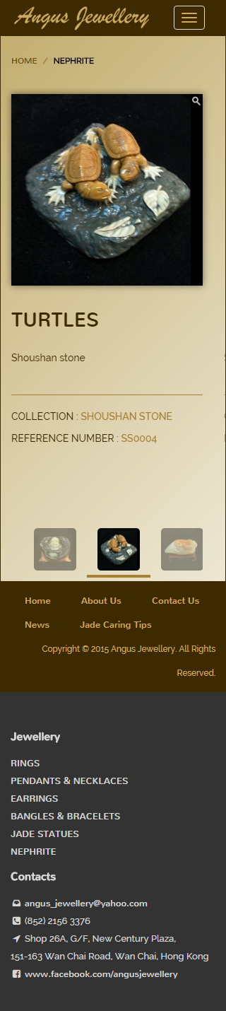 Angus Jewellery Website | Product Page - Nephrite